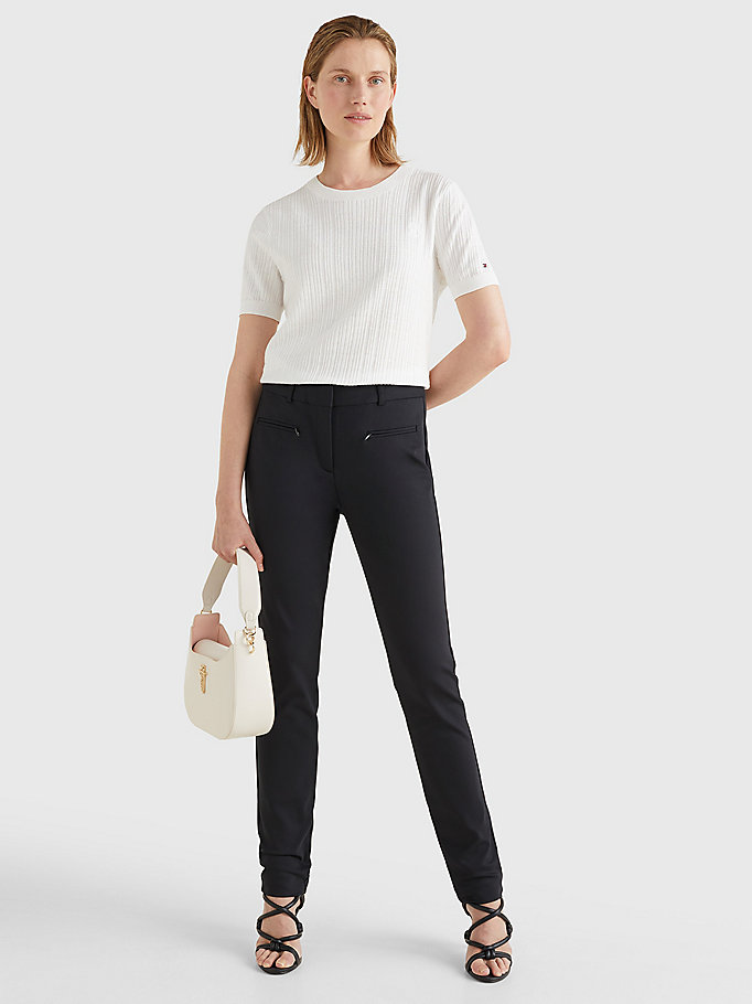 TOMMY HILFIGER Power Stretch Trousers - NIGHT SKY - TOMMY HILFIGER Women - detail image 1