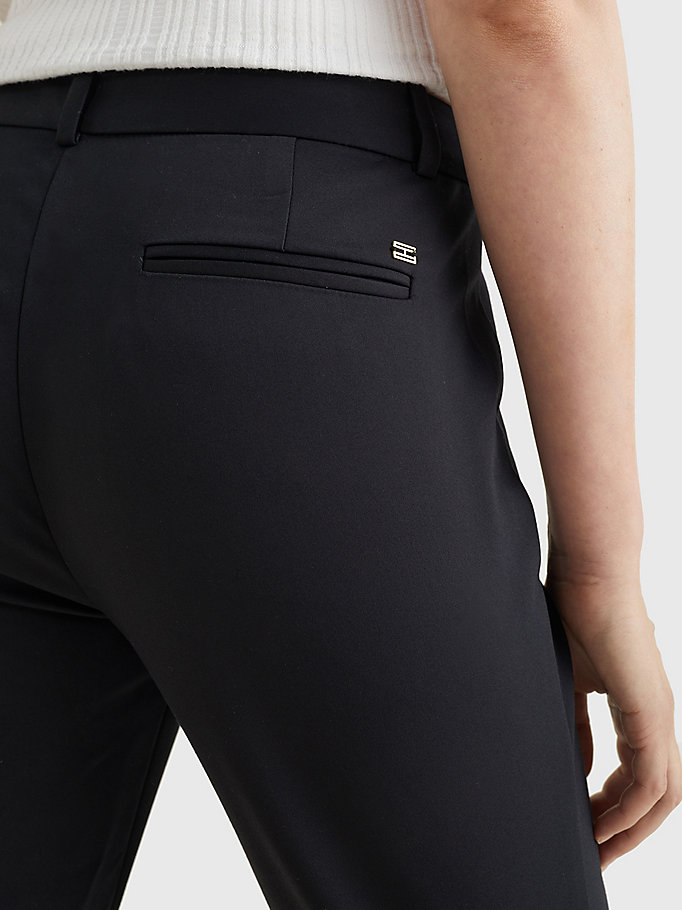 TOMMY HILFIGER Power Stretch Trousers - NIGHT SKY - TOMMY HILFIGER Women - detail image 2