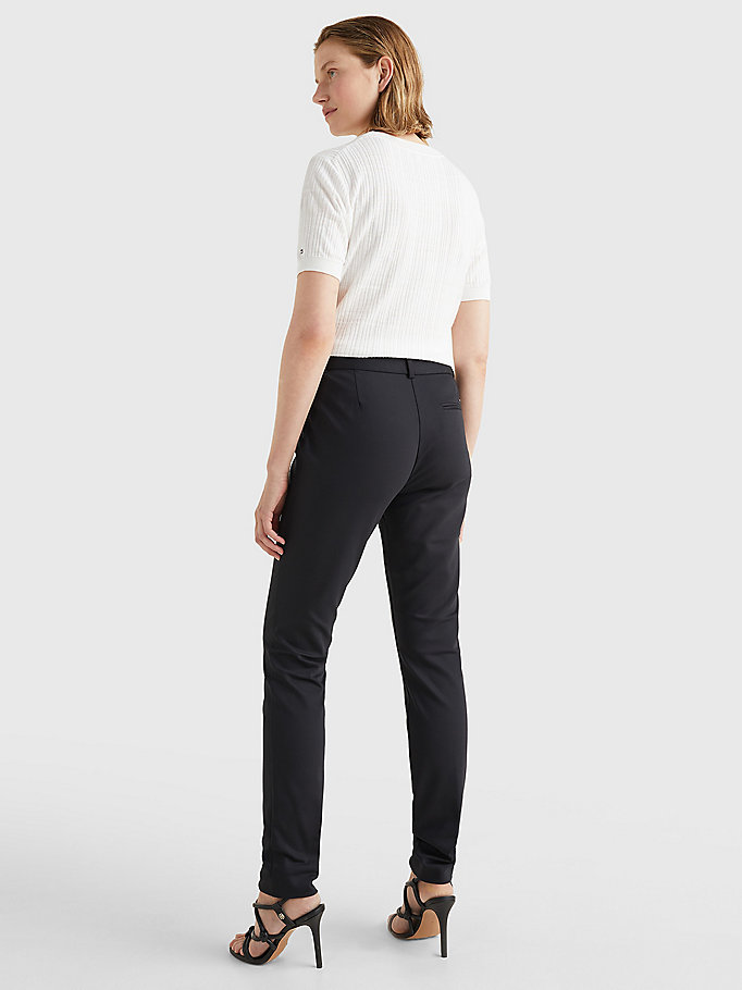TOMMY HILFIGER Power Stretch Trousers - NIGHT SKY - TOMMY HILFIGER Women - detail image 3