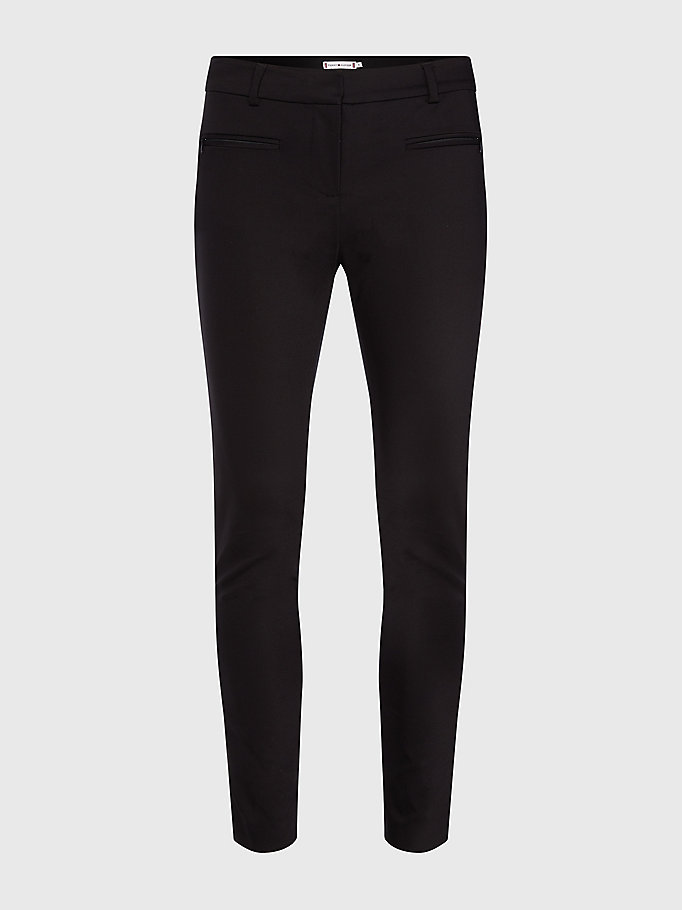 TOMMY HILFIGER Power Stretch Trousers - NIGHT SKY - TOMMY HILFIGER Women - detail image 4