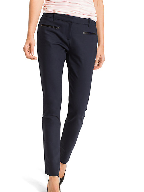 TOMMY HILFIGER Power Stretch Trousers - NIGHT SKY - TOMMY HILFIGER Trousers - main image