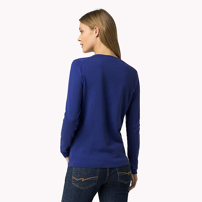 TOMMY HILFIGER Classic Fitted Jumper - CHAMBRAY BLUE - TOMMY HILFIGER Women - detail image 1