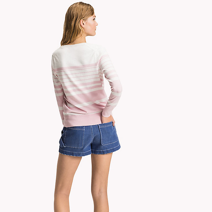 TOMMY HILFIGER Classic Fitted Jumper - ROSE SMOKE - TOMMY HILFIGER Women - detail image 1
