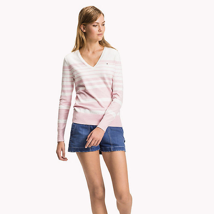 TOMMY HILFIGER Classic Fitted Jumper - ROSE SMOKE - TOMMY HILFIGER Women - main image