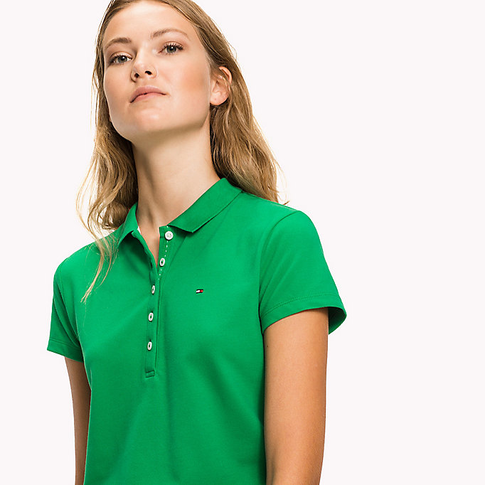 TOMMY HILFIGER Slim Fit Polo - BRIGHT COBALT - TOMMY HILFIGER Women - detail image 2