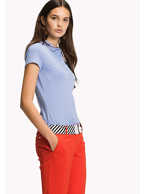 TOMMY HILFIGER Fitted Polo Shirt - HYDRANGEA - TOMMY HILFIGER Clothing - main image