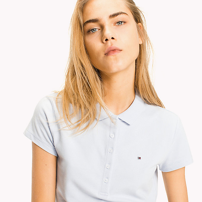 TOMMY HILFIGER Slim Fit Polo - SAMOAN SUN - TOMMY HILFIGER Women - detail image 2
