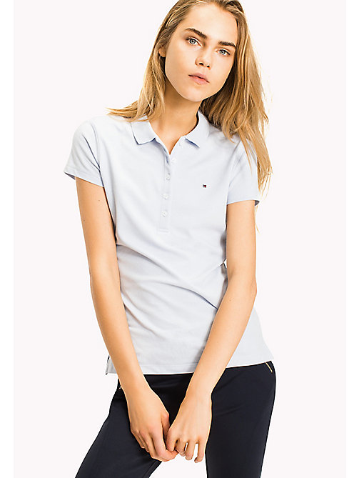 TOMMY HILFIGER Slim Fit Poloshirt mit Aufdruck - HEATHER - TOMMY HILFIGER Poloshirts - main image