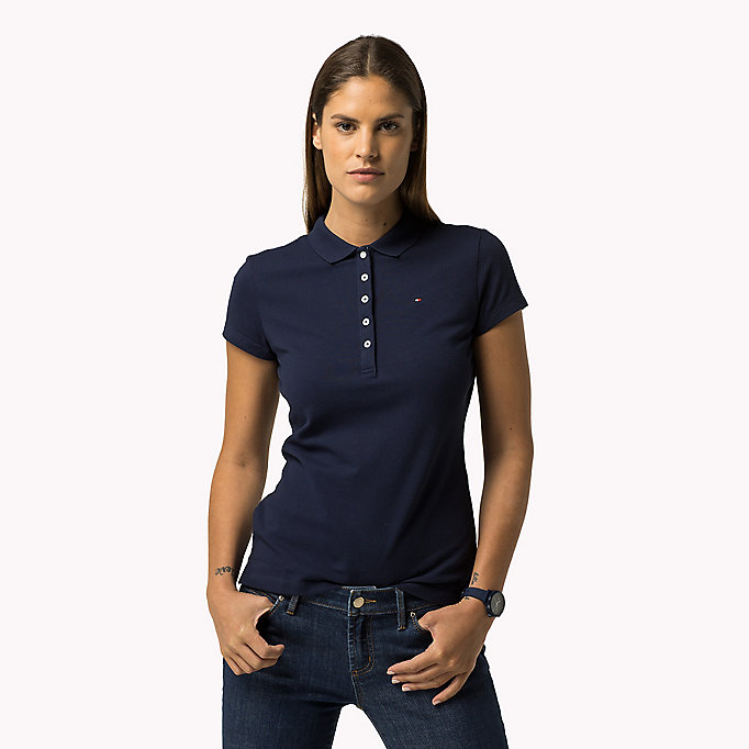 TOMMY HILFIGER Slim Fit Polo - PHLOX PINK - TOMMY HILFIGER Women - main image