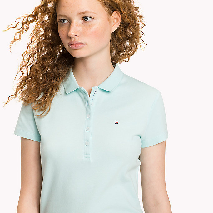 TOMMY HILFIGER Slim Fit Polo - HEATHER - TOMMY HILFIGER Women - detail image 2