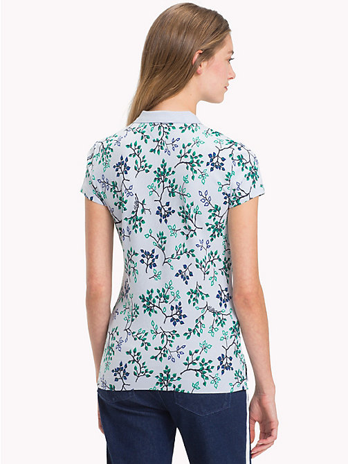 TOMMY HILFIGER Slim Fit Poloshirt mit Aufdruck - FOREST FLORAL / HEATHER - TOMMY HILFIGER Oberteile - main image 1