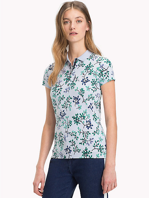 TOMMY HILFIGER Slim Fit Poloshirt mit Aufdruck - FOREST FLORAL / HEATHER - TOMMY HILFIGER Oberteile - main image