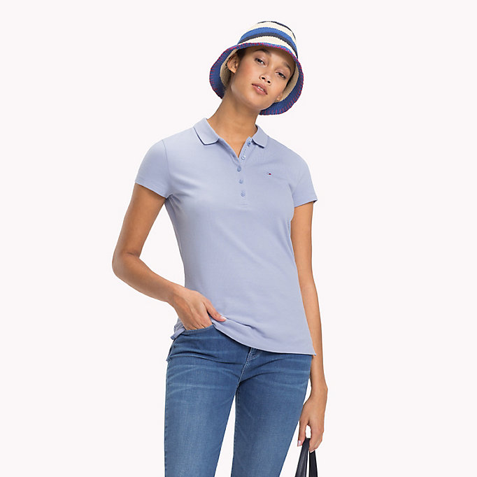 TOMMY HILFIGER Slim Fit Polo - CLEARWATER - TOMMY HILFIGER Women - main image