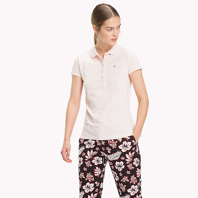 TOMMY HILFIGER Slim Fit Polo - HYDRANGEA - TOMMY HILFIGER Women - main image