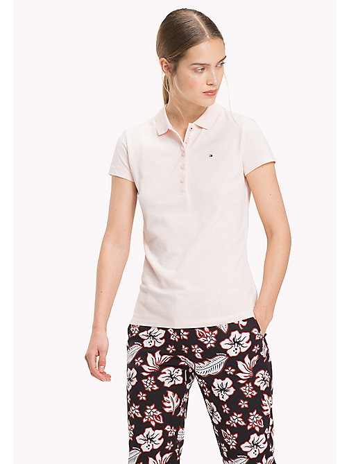 TOMMY HILFIGER Stripe Stretch Polo Shirt - SILVER PEONY - TOMMY HILFIGER Clothing - main image