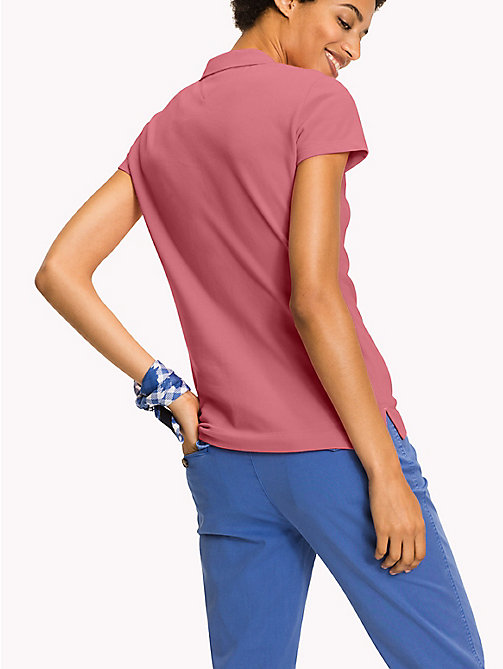TOMMY HILFIGER Fitted Polo Shirt - BUBBLEGUM - TOMMY HILFIGER Clothing - detail image 1