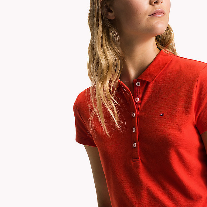 TOMMY HILFIGER Slim Fit Polo - FIESTA - TOMMY HILFIGER Women - detail image 2