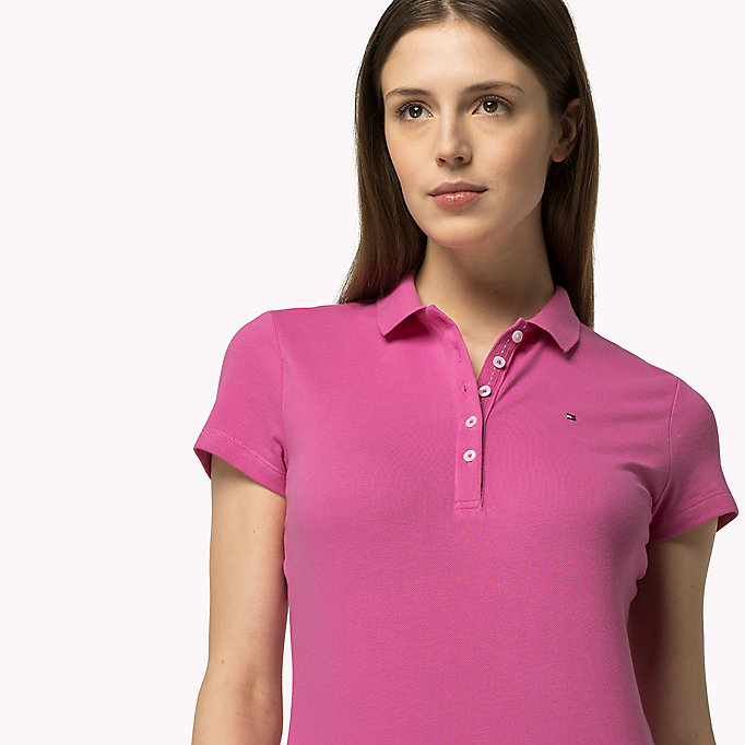 TOMMY HILFIGER Slim Fit Polo - CLEMATIS BLUE - TOMMY HILFIGER Women - detail image 2