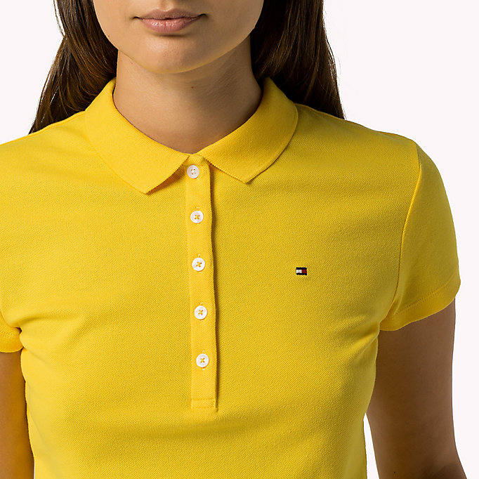 TOMMY HILFIGER Slim Fit Polo - HYDRANGEA - TOMMY HILFIGER Women - detail image 2