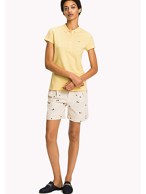 TOMMY HILFIGER Fitted Polo Shirt - SUNSHINE - TOMMY HILFIGER Clothing - main image