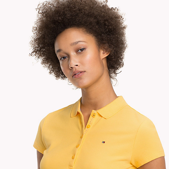 TOMMY HILFIGER Slim Fit Polo - JELLY BEAN - TOMMY HILFIGER Women - detail image 2