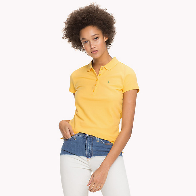 TOMMY HILFIGER Slim Fit Polo - JELLY BEAN - TOMMY HILFIGER Women - main image