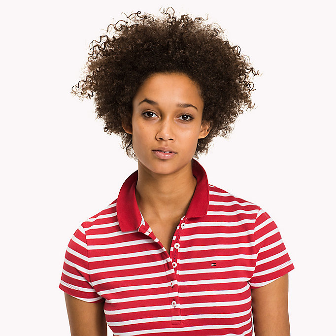 TOMMY HILFIGER Slim Fit Polo - FREESIA - TOMMY HILFIGER Women - detail image 2