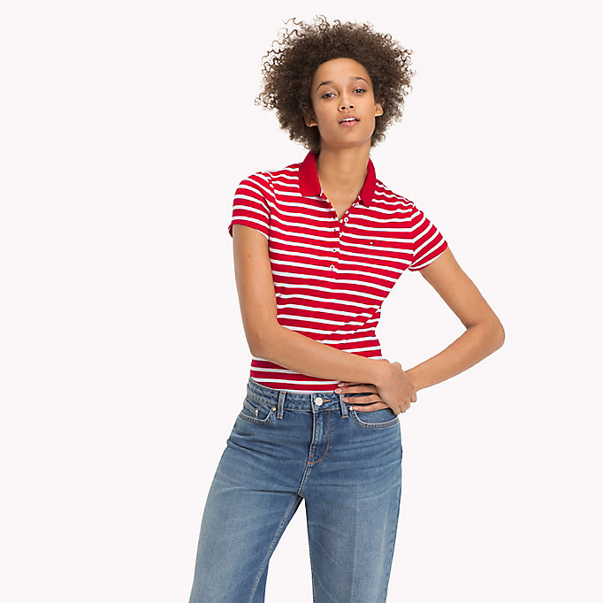 TOMMY HILFIGER Slim Fit Polo - FREESIA - TOMMY HILFIGER Women - main image