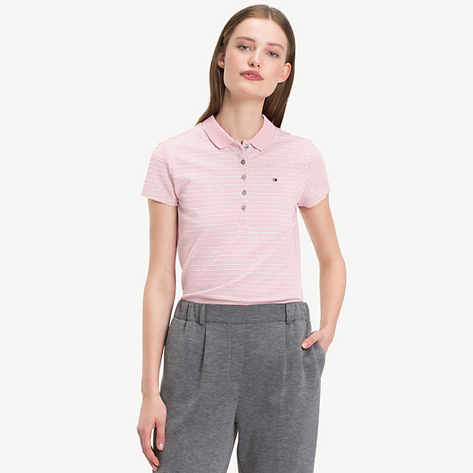 TOMMY HILFIGER Slim Fit Polo - EVENTIDE - TOMMY HILFIGER Women - main image