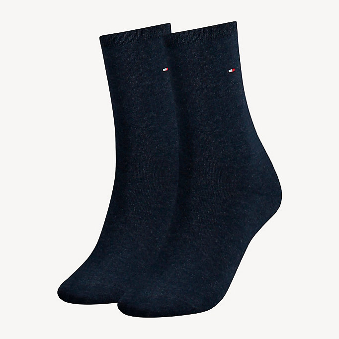 blue 2-pack stretch cotton blend socks for women tommy hilfiger