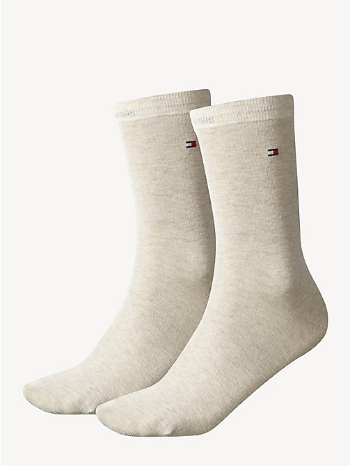 TOMMY HILFIGER 2-Pack Women's Socks - LIGHT BEIGE MELANGE - TOMMY HILFIGER Socks & Hosiery - main image