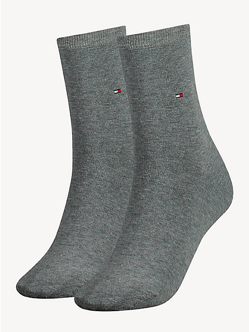 TOMMY HILFIGER 2 Pack Casual Socks - MIDDLE GREY MELANGE - TOMMY HILFIGER Socks & Hosiery - main image