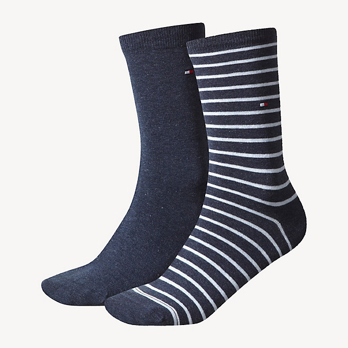 TOMMY HILFIGER 2 Pack Striped Socks - TOMMY ORIGINAL - TOMMY HILFIGER Women - main image