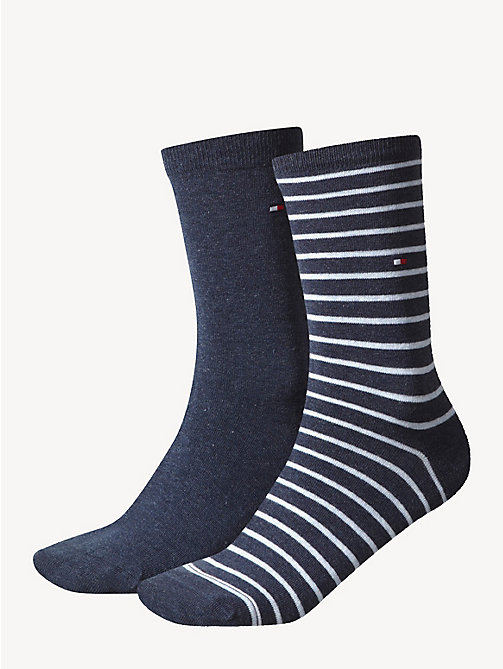 TOMMY HILFIGER 2 Pack Striped Socks - JEANS - TOMMY HILFIGER Socks & Hosiery - main image