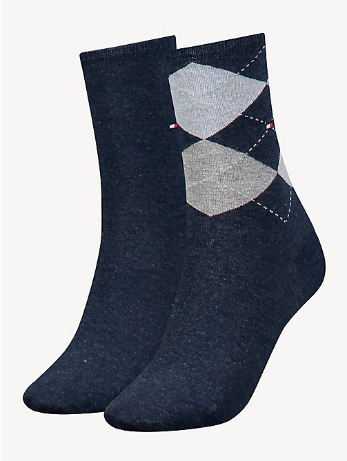 TOMMY HILFIGER 2-Pack Cotton Blend Socks - JEANS - TOMMY HILFIGER Socks & Hosiery - main image