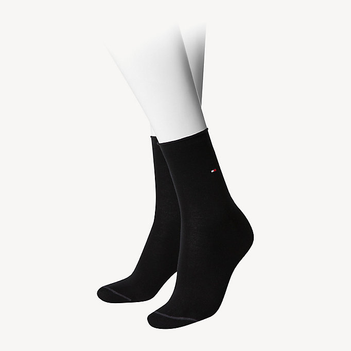 black cotton socks for women tommy hilfiger