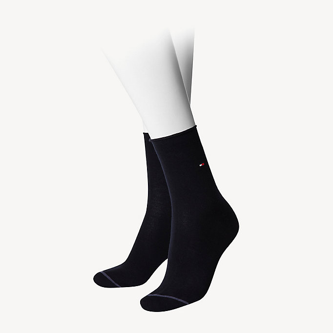 TOMMY HILFIGER Cotton Socks - BLACK - TOMMY HILFIGER Women - main image
