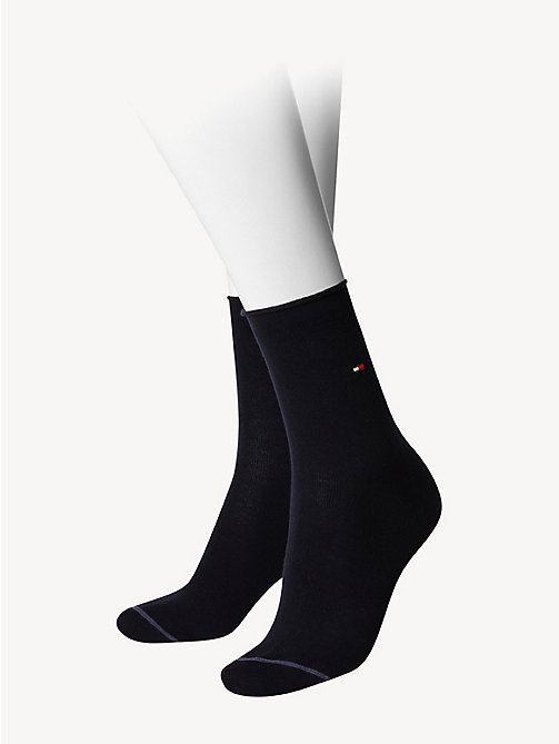 TOMMY HILFIGER Cotton Socks - MIDNIGHT BLUE - TOMMY HILFIGER Skarpetki & Rajstopy - main image