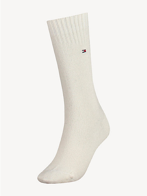 TOMMY HILFIGER TH WOMEN SOCK CASHMERE 1P - WHISPER WHITE - TOMMY HILFIGER Sokken & Panty's - main image