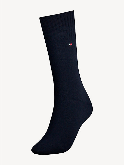 TOMMY HILFIGER TH WOMEN SOCK CASHMERE 1P - MIDNIGHT BLUE - TOMMY HILFIGER Socks & Hosiery - main image
