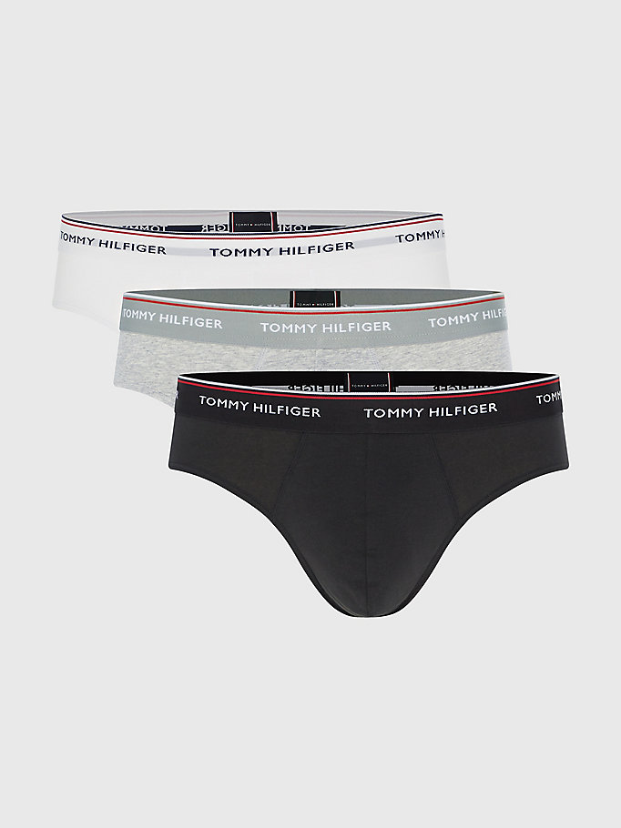 TOMMY HILFIGER 3 Pack Branded Cotton Knickers - SMOKED PEARL/VIVID BLUE/PEACO - TOMMY HILFIGER Men - main image