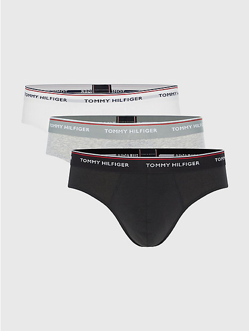 TOMMY HILFIGER Slips mit Branding im Dreierpack - BLACK / GREY HEATHER- EUR / WHITE - TOMMY HILFIGER Packs - main image