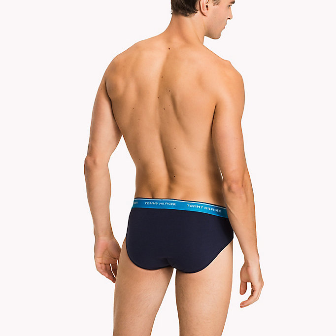 TOMMY HILFIGER 3-Pack Cotton Briefs - BLACK - TOMMY HILFIGER Men - detail image 1