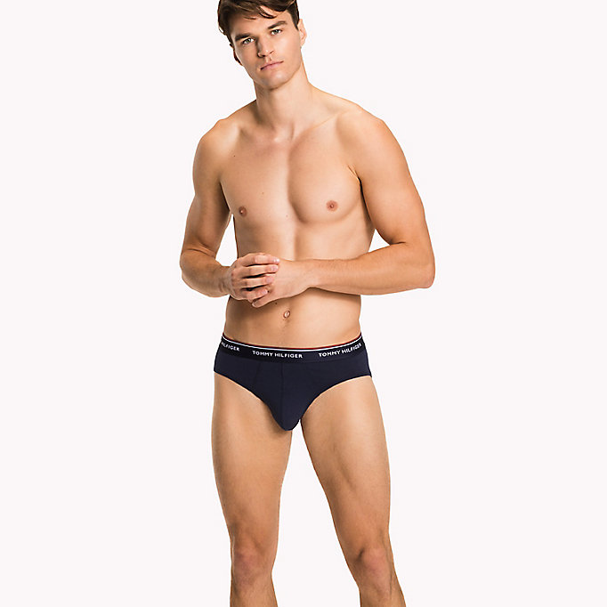 TOMMY HILFIGER 3-Pack Cotton Briefs - BLACK - TOMMY HILFIGER Men - detail image 2