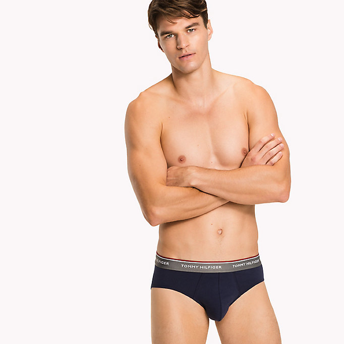TOMMY HILFIGER 3-Pack Cotton Briefs - BLACK - TOMMY HILFIGER Men - detail image 3