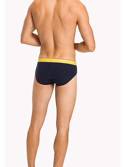TOMMY HILFIGER 3-Pack Cotton Briefs - BAYBERRY/MALIBU BLUE/VBRANT Y - TOMMY HILFIGER Three Packs - detail image 1