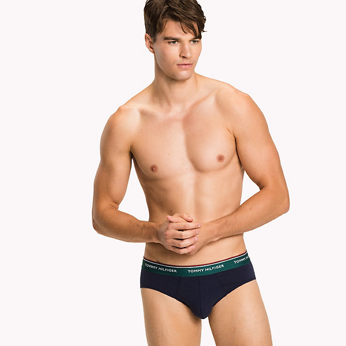 TOMMY HILFIGER 3-Pack Cotton Briefs - WHITE - TOMMY HILFIGER Men - detail image 3