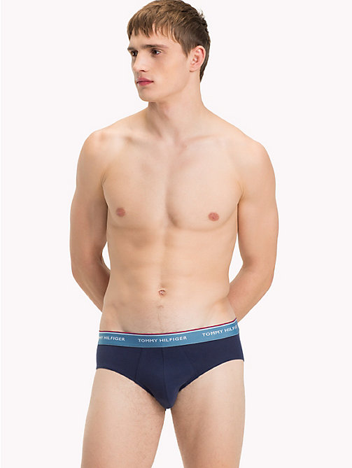 TOMMY HILFIGER 3-Pack Signature Briefs - BLUE HVN/MAZZ BLUE/IRON GATE(PCOAT) - TOMMY HILFIGER Packs - detail image 1