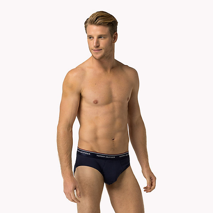 TOMMY HILFIGER 3-Pack Cotton Briefs - BLACK / GREY HEATHER- EUR / WHITE - TOMMY HILFIGER Men - detail image 2