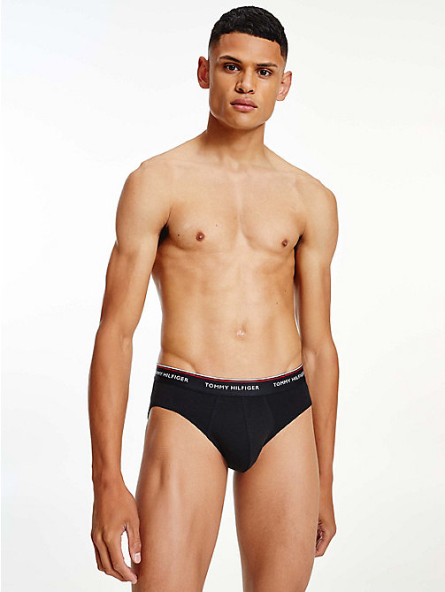 TOMMY HILFIGER 3-Pack Cotton Briefs - BLACK - TOMMY HILFIGER Three Packs - detail image 1